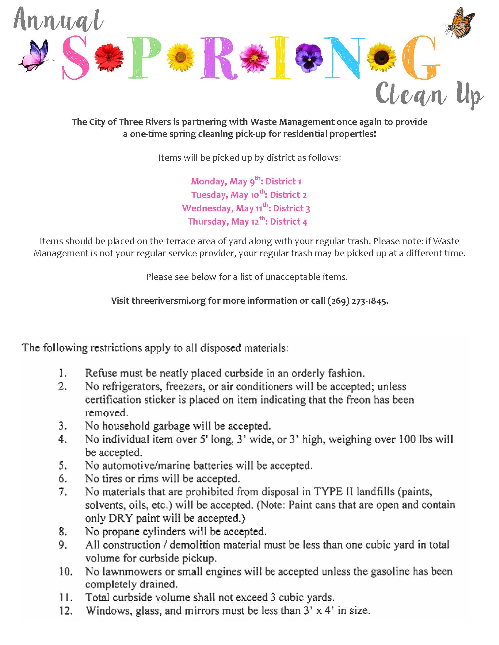 2016 Spring Cleaning Flyer 1-page