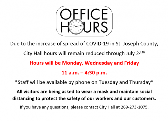 City Hall Hours Notice